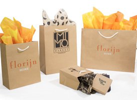 kraft aubrey paper shopping bags
