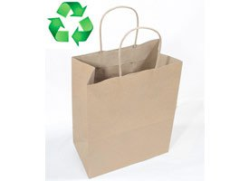 brown kraft shoppihng bags