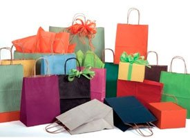 shadow stripe paper shopping bags
